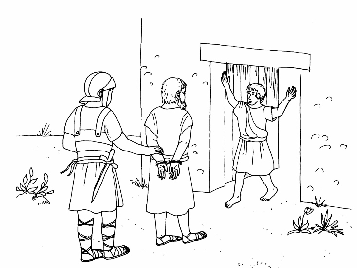 Jesus And  Apostles Coloring Page
