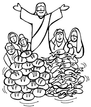 Jeses Teaching People Coloring Page